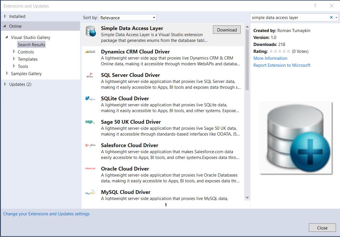 Simple Data Access Layer Generator